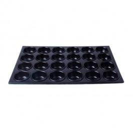 Alumninium Non Stick Muffin Trays for 24 MuffinsDimensions Tray size: 36(W)x53(L)cmCup size: 4(D)x8(Ø)cm