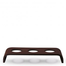 Event Wooden Platform Low Dark Brown 53 x 19 x 8cm
