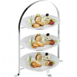 New Display stand 3 Tier Chrome Stand 33cm x 24cm