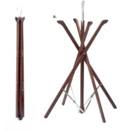 Wooden Tray Stand Mahogany Fold Away Stand