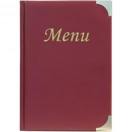 Classic Menu Holder Wine Red Fits 8 x A5 Paper