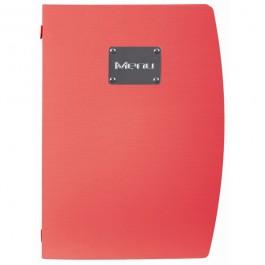Rio Menu Red Fits 4 x A4 Paper