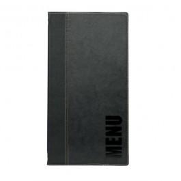 Contemporary Long Menu Holder Black Fits 4 Pages 38 x 18cm