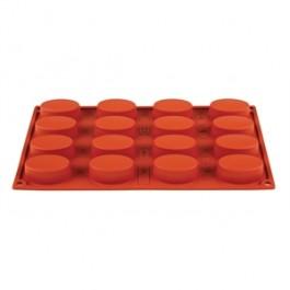 Pavoni Formaflex Silicone 16 Oval Moulds 2 x 5.3 x 3.3cm (H x L x W)