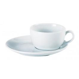 Porcelite Standard Bowl/Latte Off Centre Saucer 17cm