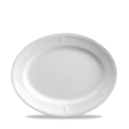 Churchill Buckingham White Oval Plate / Platter 25.4cm