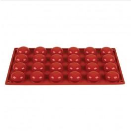 Pavoni Formaflex Silicone 24 Pomponette Moulds 1.6 x 3.4cm (H x D)