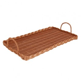 Poly Wicker Tray with Handles 28.5 x 43cm
