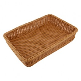 Poly Wicker Basket 40 x 59 x 15cm