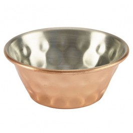Ramekin Copper Plated Hammered Finish 4.2cl