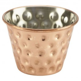 Ramekin Stainless Steel Copper Plated Hammered Finish 7cl