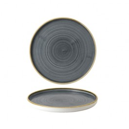Churchill Stonecast Blueberry Walled Plate 21cm