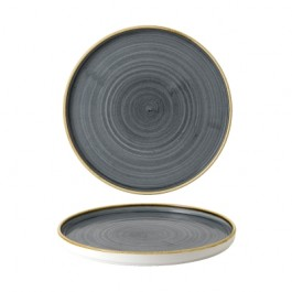 Churchill Stonecast Blueberry Walled Plate 26cm