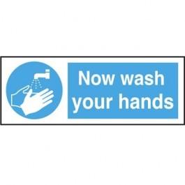 Now Wash Your Hands Sign 8 x 23cm CS018