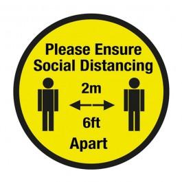 Please Ensure Social Distancing Floor Sign 60cm SD030