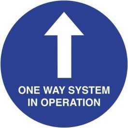 One Way In Operation Floor Sign 20cm SD031