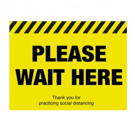 Please Wait Here Floor Sign 40x30cm SD034
