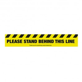 Please Stand Behind this line Floor Sign 60x10cm SD042