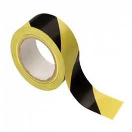 Yellow/Black Stripe Adheive Floor Tape 33 metres x 5cm FL013