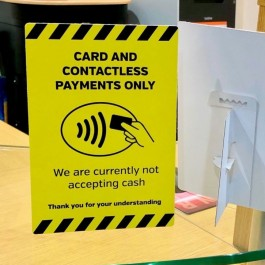 Card and Contactless Payments only Counter Display A6 SD099