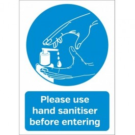 Please use Hand Sanitiser before entering Sticker A6 SD145
