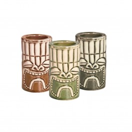 Tiki Shot Set (Khaki/Green/Brown) 4cl Set of 6