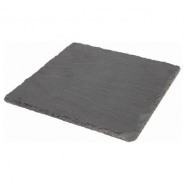 Slate Square Platter Natural Edge 20 x 20cm