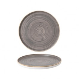 Churchill Stonecast Peppercorn Grey Walled Plate 15.7cm