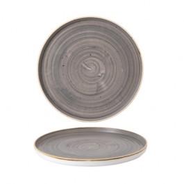 Churchill Stonecast Peppercorn Grey Walled Plate 27.5cm
