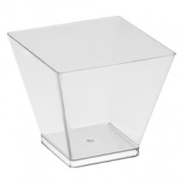 Disposable Clear Square Bowl Polystyrene 6cl