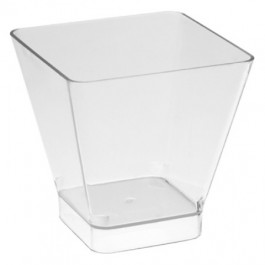Disposable Clear Square Bowl Polystyrene 20cl