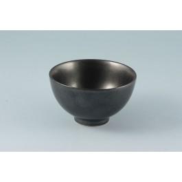 Oriental Range Rice Bowl Tesu Kessho Black 11cm