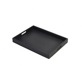 Acacia Butlers Tray Black 44 x 32 x 4.5cm