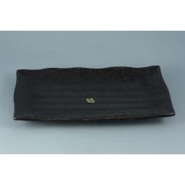 Oriental Range Oblong Plate Yuzu, black, oblong 33 x 23cm