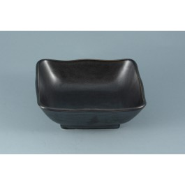 Oriental Range Square Bowl Black 17cm