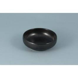 Oriental Range Choku Plate Tesu Kessho, black 9 x 3cm