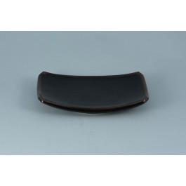 Oriental Range Oblong Plate Yuzu, black 19.5cm