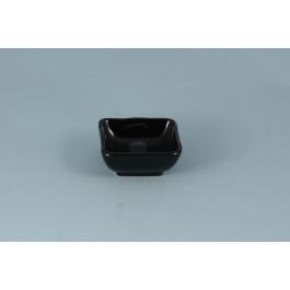 Oriental Range Choku Sauce Dish Ginsai, square, black 7.5cm