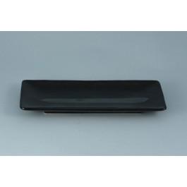 Oriental Range Oblong Plate Ginsai, black 28.5 x 12.5cm