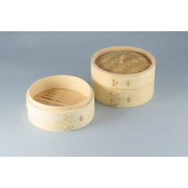 Oriental Range 8 inchPremium Steamer Base Bamboo, with handle 20.32cm