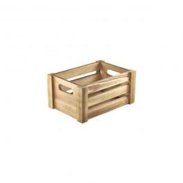Wooden Crate Rustic Finish 22.8 x 16.5 x 11cm