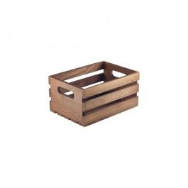 Wooden Crate Dark Rustic Finish 21.5 x 15 x 10.8cm