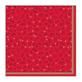Twelfth Night Red 2 Ply Napkin 33cm