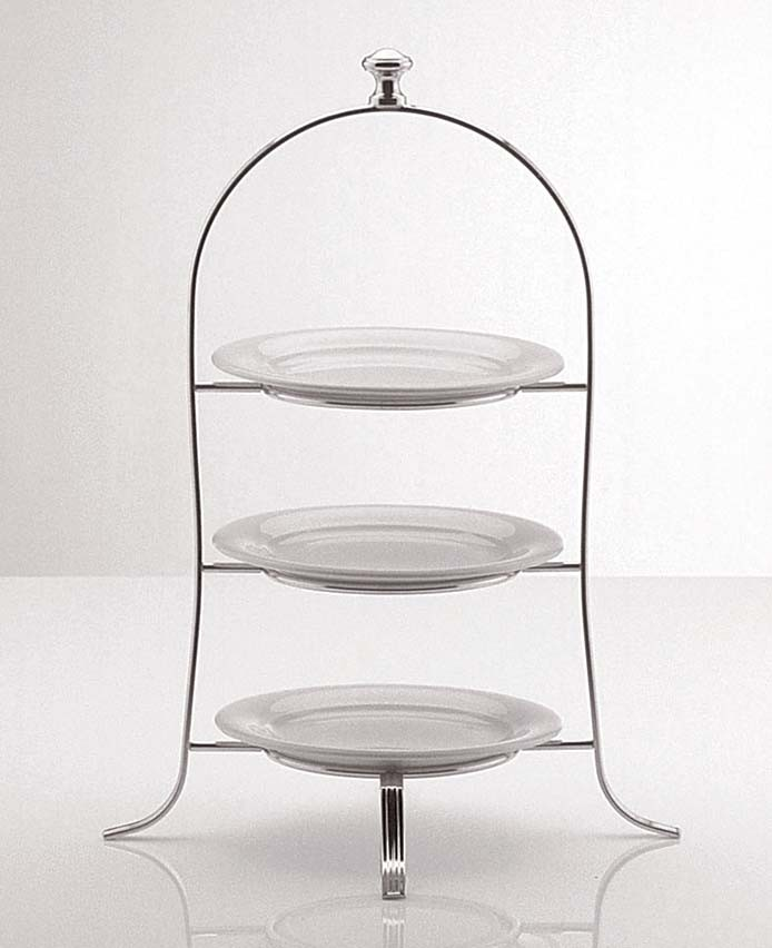Cake Plate Stand With Round Knob 49 x 24.5cm Silver plated 3 tier & Silver Plated Tiered Cake Stands - Cake Stands - Directtableware.com ...