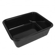 Black Melamine 1/2 Size Regal Dish (100mm)