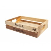 Baroque Medium Crate Rustic Acacia 30 x 21 x 7cm