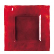 Dudson Elements - Fire Glass Square Plate/Red 28cm DISCON