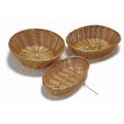 Bread Basket 21.5 x 12.5 x 5cm Woven Polywicker, Oblong