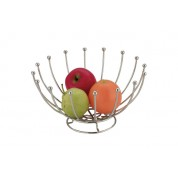 Wireware Fruit Basket Round Chrome 25.4 x 13.97cm