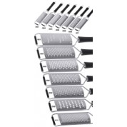 Potato Grater Hardened Stainless Steel 13x6cm 6mm Coarse Round Holes
